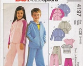 Children's Jacket Top Pants Sewing Pattern Size 3-6 McCall's 4197 UNCUT