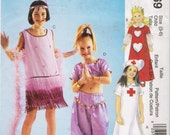 Children's and Girls' Dress-Up Costumes Sewing Pattern Size 3-6 McCall's 4169 UNCUT