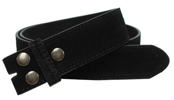 Beautiful Black SUEDE Snap On Belt Strap