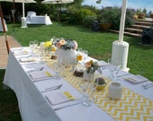 CHEVRON RUNNERS COLORS- Chevron zig zag Table Runner Wedding Bridal Baby Party Shower 48 60 72 84 96 108 120 144 Your choice