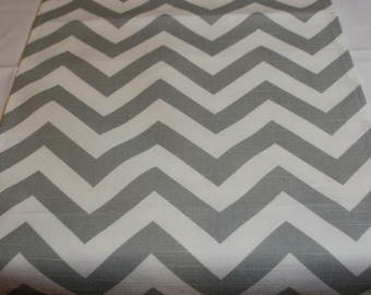 "108"" EXTRA-LONG RUNNER grey and white zig zag table runner Chevron ash gray silver"
