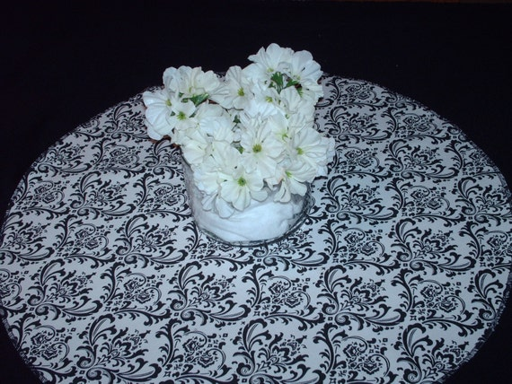 "ROUNDS DAMASK COLORS 20""  for Centerpieces Madison damask table rounds baby pink fuchsia black red blue lime or other colors"