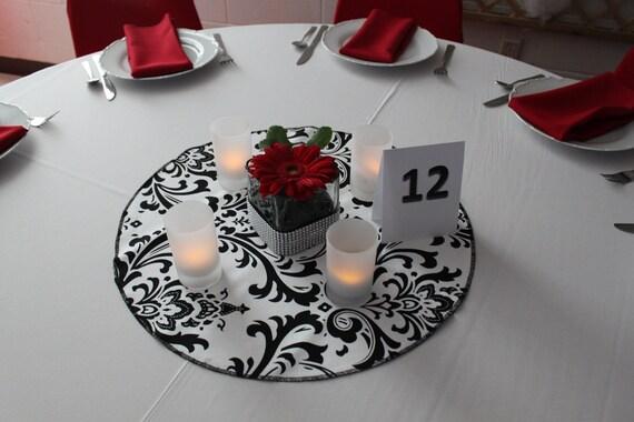 "DAMASK TABLE ROUND  for Centerpieces, cotton damask table rounds,  Multiple Colors 15-24"", Damask wedding table decor,  bridal center"