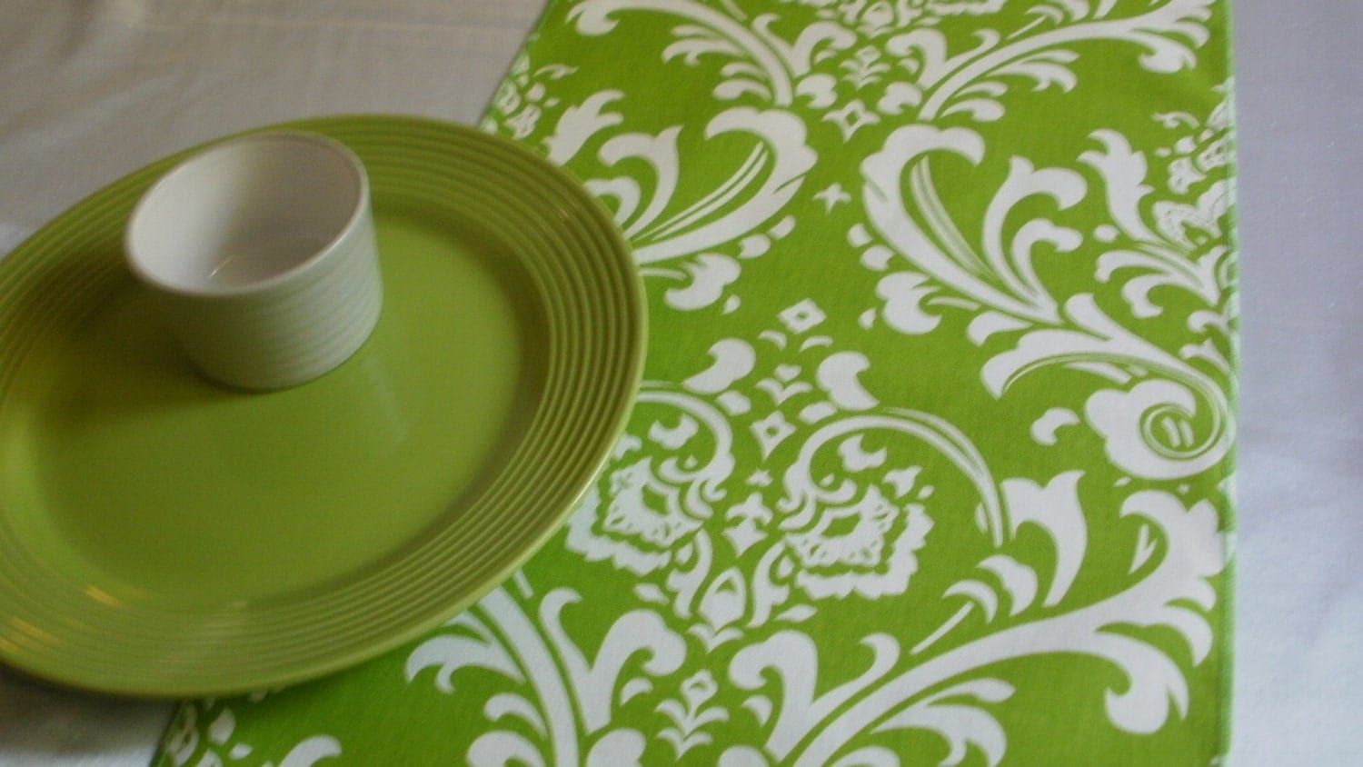 Damask Table Runners Table Runner Chartreuse Damask