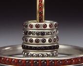 Simple Rolling Bracelet-ruby