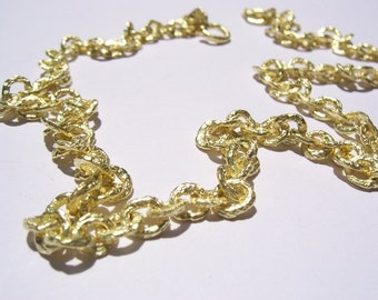 Raw 18kt Yellow Gold Necklace