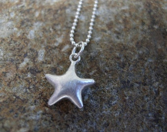 Petite Silver Star Necklace
