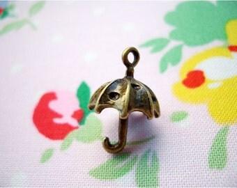6pcs 13x19.5mm antique bronze umbrella charms pendants (J193)