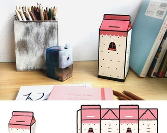 Easy DIY Scrapbook Storing Coin Box (P33.1 - Pink House)