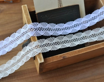 2.5cm x 2yards (white) cotton crochet lace trim (S494)
