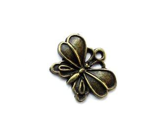 8pcs 18x14mm antique bronze butterfly charms pendants (J383)