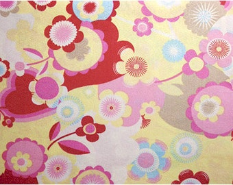802 - Floral Cotton Fabric - 43 Inch (Width) x 1/2 Yard (Length)