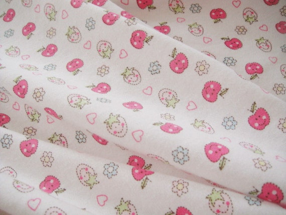 2882 - Smiling Fruit Cotton Jersey Knit Fabric - 63 Inch (Width) x 1/2 Yard (Length)