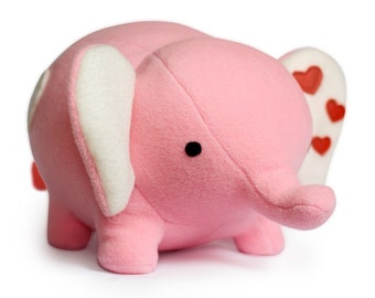 Love Elephant plushie pdf sewing pattern