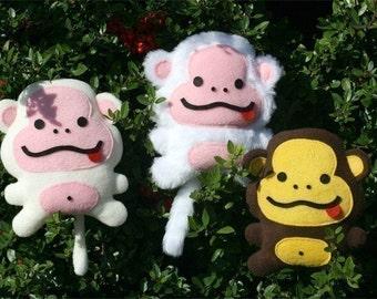 Fluffy Monkey Pattern - PDF - Sew a stuffed animal toy epattern