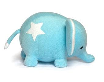 DIY blue Star Elephant plush sewing KIT