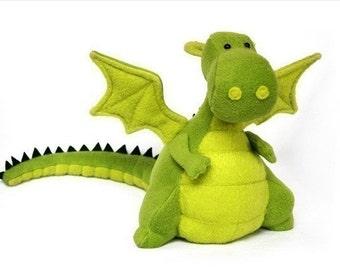 Yoki El Dragon  - Patrón de juguete para coser PDF