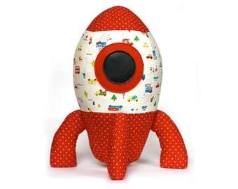 Big Rocket toy sewing pattern PDF