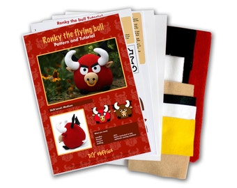 Bull DIY sewing KIT - ronky the bull toy