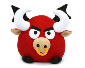 Patrón de juguete para coser PDF - Pepe el toro volador