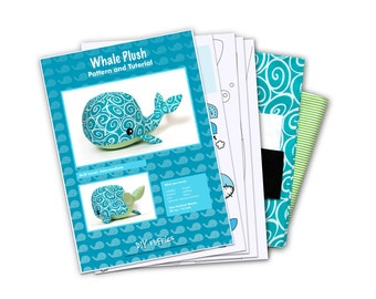 Cotton whale sewing toy kit