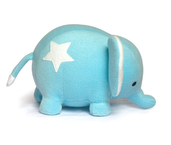 DIY blue Star Elephant plush sewing KIT