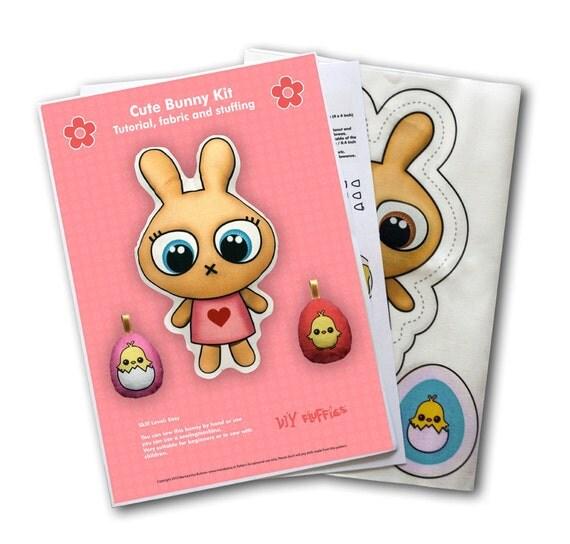 Cute Bunny DIY Kit - sew a cute bunny doll