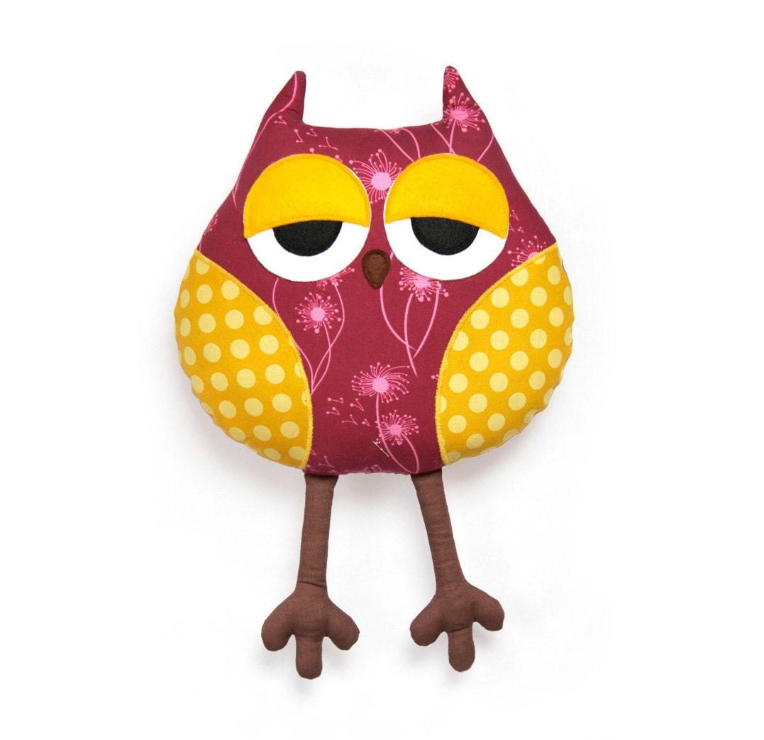 sleepy owl softie sewing pattern owl soft toy pdf instant