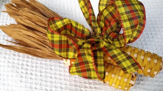 Corn Yellow and Orange with yellow and orange fall ribbon 107