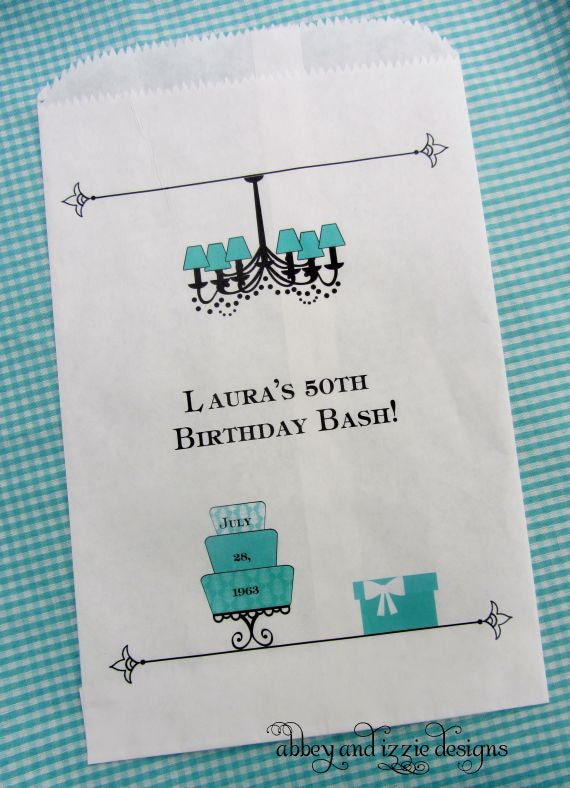 Tiffany Blue Candy Bags | Candy Bags |  Birthday Favor Bags | Candy Buffet Bags