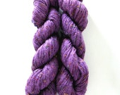 SWTC Yang yarn, Wool, silk and bamboo blend art yarn, brilliant purple,  with sequins, 3 skeins, reserved