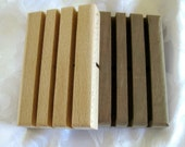 Two Wooden Soap Dishes, kitchen decor, B7