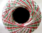 SHADED CHRISTMAS Crochet thread, Aunt Lydias Classic Crochet  Thread,  size 10, red green white