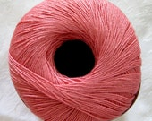 Aunt Lydias CORAL Bamboo Thread,  size 10, crochet thread, bedspread weight