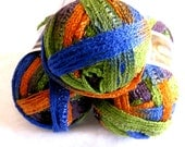 DISCO Red Heart Sashay yarn, Flamenco yarn,  ruffling, mesh yarn, Boutique Sashay