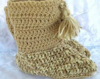 Easy slipper Pattern Crochet, boot style, adults and childrens sizes,  PDF digital download