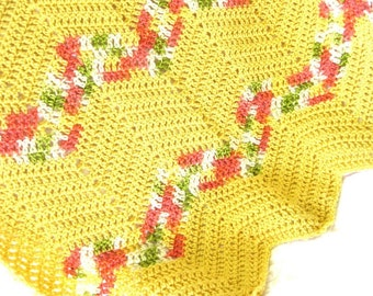 Easy Chevron Afghan Crochet  pattern, crochet blanket pattern, chair throw, PDF Pattern digital download