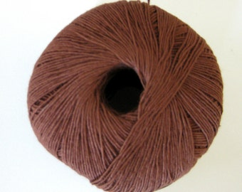 Aunt Lydias Bamboo Thread, TWIG brown, size 10 crochet thread