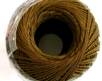 Aunt Lydias Fashion Crochet cotton thread, COFFEE, Size 3, dark brown, mercerized, 365