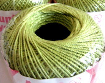Aunt Lydias Fashion Crochet thread, LIME Green, Size 3, cotton thread, 264