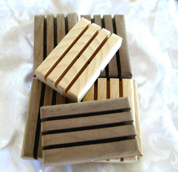 Wood Soap dishes, 10 pack, great for gift soap sets, w4