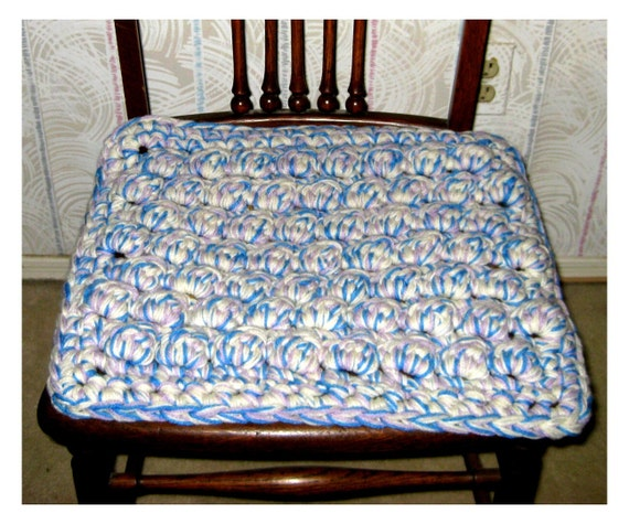Crocheted Chair Cushion stadium seat wheelchair pad by  : il570xN245298864 from www.etsy.com size 570 x 475 jpeg 92kB