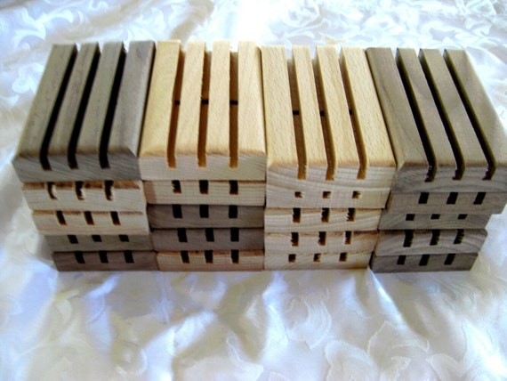Handcrafted Wooden Soap Dishes  20 pack, bulk pack, H4