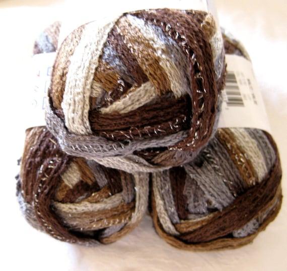 WALTZ  Red Heart Sashay Boutique yarn,  brown shades