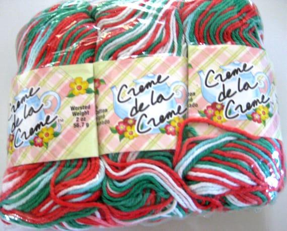 Creme de la Creme Cotton Yarn, Christms Ombre, White, 3 pkgs each, RESERVED