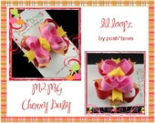 M2MG Cherry Baby Infant Petite Lil Loopz Hair Bow