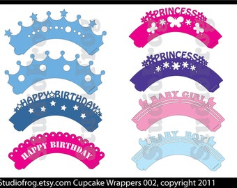 Cupcake Wrappers SVG Bundle 002 - Updated