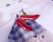 Wedding garter  RUBY SLIPPER a PETERENE  Garter Wedding remembering Oz