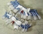 wedding garter set the Original Ruby Slipper  Wizard of Oz wedding Keep  and  Toss  a Peterene Design