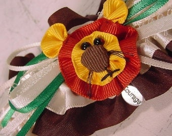 Cowardly Lion with Courage wedding garter a PETERENE  original PROM